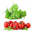 Lettuce and tomatoes — Stock Photo