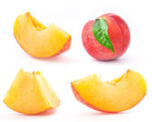 Peach and Slice — Stock Photo