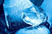 Blue ice texture — Stock Photo