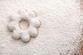 Cookies covered powdered sugar — Stock Photo