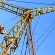 Stock Photo: Hoist/crane with clear