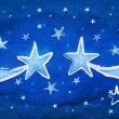 Royalty-Free Stock Photo: Stars on blue paper
