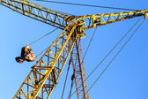 Hoist/crane with clear — Stockfoto