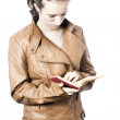 Teen reading a book — Stock Photo #11385190