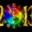图库照片: Happy new year 2013 - America