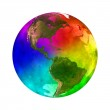 Rainbow and beauty planet Earth - America — Stock Photo #10955783