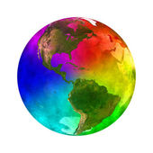 Rainbow and beauty planet Earth - America — Stock Photo