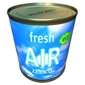 Can of ecologic fresh air - cartoon — Stock Photo