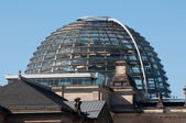 Dome on top of the Reichstag building — Stock Photo