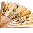 Stock Photo: Chinese folding fan isolated