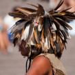 Indian boy in the national headdress - Stock Photo