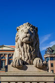 Lion near Norwegian Parliament — 图库照片