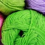 Multi-colored balls of yarn — Stock Photo