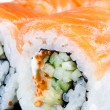 Traditional japanese food roll made of salmon — Stock Photo