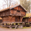 Norwegian typical wooden house — Stock Photo