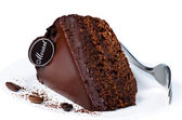 Stück leckeren schokoladenkuchen — Stockfoto