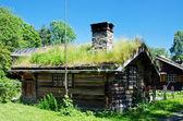 Ancient 18th century Norwegian houses — Stock Photo