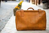 Worn suitcase — Stock Photo
