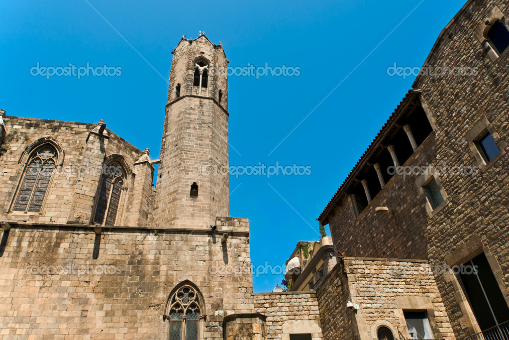 Santa Maria del Mar in Barcelona, Spain  Stock Photo #12141868