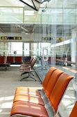 Airport seats — Stock Photo