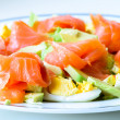 Salmon salad — Stock Photo #12256540