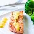 Stock Photo: Salmon hollandaise