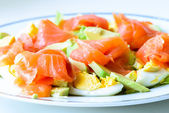 Salmon salad — Stock fotografie