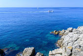 Boats at costa brava — Stock Photo