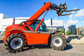 Red skid steer — 图库照片