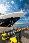 Ship at port — Stock Photo