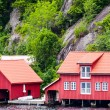 Two red houses — Stock Photo