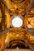 Ceiling of gothic cathedral — Stock Photo