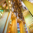 Columns and ceiling in church — Stock Photo