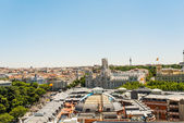 Top view on streets and houses of Barcelona — Stock Photo
