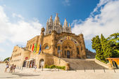 Tibidabo church on mountain in Barcelona — Stock Photo