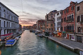 Canal in Venice, Italy at sunset. — Stock Photo