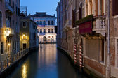 Canal in Venice, Italy at night. — Stock Photo