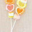 Colorful jelly candy stick — Stock Photo