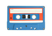 Cassette tape isolated on white with clipping path — Stock Photo