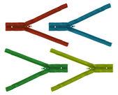 Set of zipper isolated — Stock Photo
