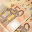 Stock Photo: Fifty euro banknote for cash
