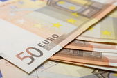 Fifty euro banknote for cash — Stock Photo