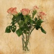 Bouquet of rose in vintage style — Stock Photo