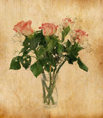 Bouquet of rose in vintage style — Foto Stock