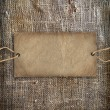 Stock Photo: Background texture vintage burlap with label