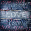 Background denim texture - Foto de Stock