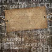 Achtergrond koffie textuur vintage jute — Stockfoto