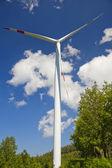 风电能源、 白 — 图库照片