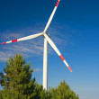 Wind energy,white turbine — Foto Stock