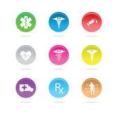 Medical icons — Stock Photo